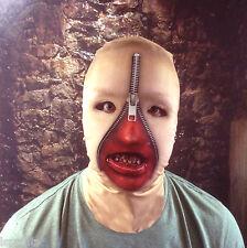 3d Mujer Cremallera Rostro con Dientes Efecto Piel Cara De Lycra Máscara