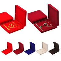 Velvet Jewelry Set Gift Box Bracelet Necklace Ring Earrings Display Storage Tray