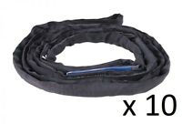 10 x 2 Tonne x 1 Metre Black Round Lifting Sling Rigging Stage Entertainment