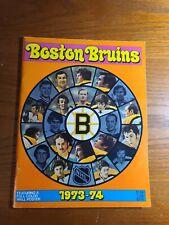 1973-74 boston bruins yearbook