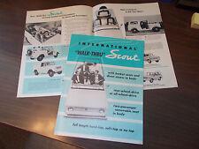 Early 1960s International Scout Sales Brochure