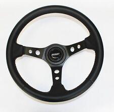 """Jeep Wrangler YJ CJ5 CJ7 Cherokee Black Carbon Fiber Look Steering Wheel 13 3/4"""""""