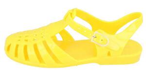 Spot On Ladies Lemon Jelly/PVC Sandals F0R711 (R25B)