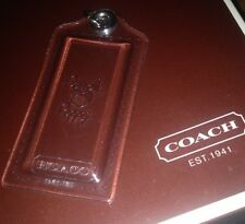 Coach Poppy Clear Large Hanging Tag Fob With Polished Nickel (silver) Ring •RARE