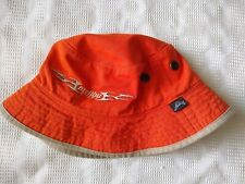 Minty Malibu Boats Orange Beige Bucket Jungle Hat Cap Hat One Size Free Ship