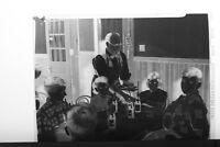 (1) B&W Press Photo Negative Children Eating Lunch Table Club Soda Pop -T3054