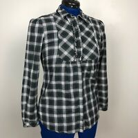 Eddie Bauer Women Size S Multicolor Plaid LongSleeve Button Down Shirt100%Cotton