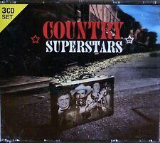 COUNTRY SUPERSTARS - VARIOUS ARTISTS 3 CD SET M HAGGARD,W JENNINGS,D PARTON...
