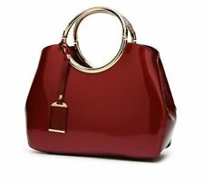 Patent Leather Women Bag Fashionable Totes Handbag Large Capacity Casual Satchel