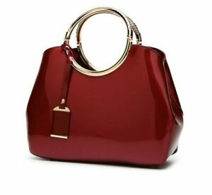 Women Patent Leather Bag Totes Handbag Large Capacity Satche Shoulder Bag HOT