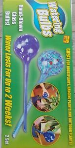 2 Aqua Plant Glass Watering Globes Automatic Watering Ball Bulbs As Seen On TV