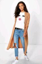 Boohoo Tall Duster Jacket - Camel - Size 16