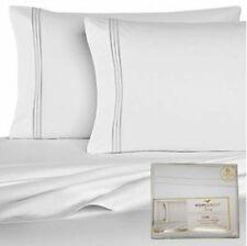 Egyptian Comfort 1800  6 Piece Sheet Set Wrinkle Free Fits King /Cal King White