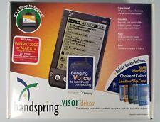 Handspring Visor Deluxe Handheld Palm w/Stylus, New Open Box Blue Never Used