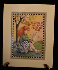 Mary Engelbreit Print 8x10 Draw Near to God Matted Bible Verse James 4:8