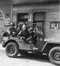 WW2 WWII Photo Marlene Dietrich(?) in US Army Jeep Germany World War Two / 3167