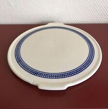 1 alte Tortenplatte od. dekorative Ablage Art Deco Keramik blau/beige 30er J.