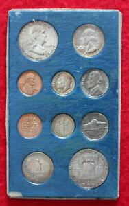 RARE- 1955 UNC.DOUBLE SILVER PROOF SET, 10 COINS - ORIGINAL PACKAGING