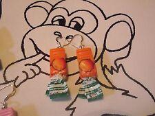 Boucle d oreille bonbon orange de 3,5cm