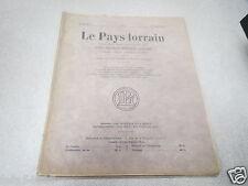 LE PAYS LORRAIN 1934 N° 9 L'exposition de Paul Emile Colin à la galerie Mosse *