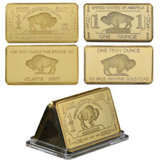 WR 1 Ounce Buffalo 24K Gold Bullion Art Bar US 1 Million Dollars 3 Diff. Designs