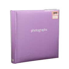 "Purple Large Memo Slip In Case  Photo Album Holds  200 Photos  ""6 x 4""- SM200PE"