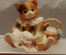 "Collectible Calico Kittens ""Hats Off To A Perfect Friendship"" Enesco No 129437"