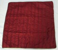 "Hallmart Collectibles One (1) Pillow Sham Quilted Cover  26x26"" Burgundy/Taupe"