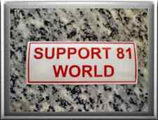 "Hells Angels support 81 stickers autocollant ""support 81 world"""