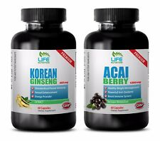 libido essential oil - KOREAN GINSENG – ACAI BERRY COMBO 2B - red ginseng pill