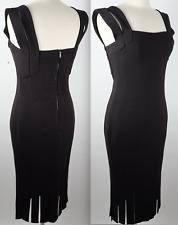 L'Wren Scott sz 44 US 6 - 8 black dress Zephyr 2009 fringe