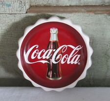 Coca Cola Coca-Cola Coke Round Red White Coke Bottle top pie crust SOAP DISH NEW