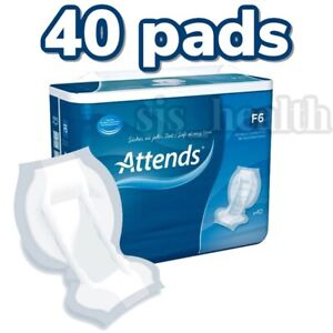 Attends F6 Incontinence Pads - Packs Of 40 Personal Care Faecal Pads 205198