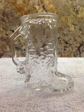 LIBBEY Boot Mug 16oz Glass Western Boot Mug