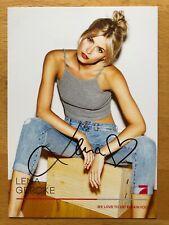 Lena Gercke AK Pro 7 The Voice of Germany Autogrammkarte original signiert