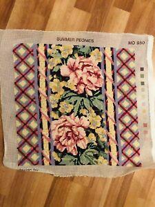 Handmade Floral Summer Peonies Tapestry I framed Chintz Ditsy