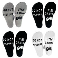 """''Do Not Disturb I'M Gaming"""" Funny Socks - Great Novelty Gift For Gamers Xmas"""