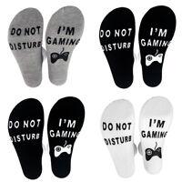 Unisex Novelty Socks DO NOT DISTURB I AM GAMING Men Women Funny Socks Letter -RR