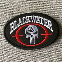 BLACKWATER PUNISHER Military Tactical Morale Hook Loop Patch Embroidery