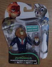 Zootropolis Zootopia Mayor Lionheart Lemming empresario Figuras Conjunto de Juego 2 Pack