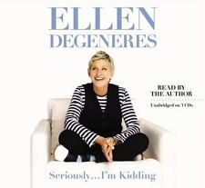 New Audio Book Seriously...I'm Kidding by Ellen DeGeneres Unabridged on 3 CDs