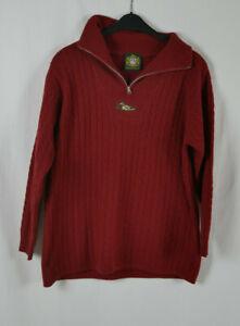 Damen HAMMERSCHMID Wunderschöner Luxus Pullover Rot Größe 44/46 TOP! 100% WOLLE