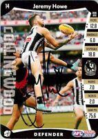 ✺Signed✺ 2019 COLLINGWOOD MAGPIES AFL Card JEREMY HOWE