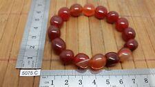Bracelet AGATE ROUGE perles en pierres roulées mineraux lithotherapie bijou mode