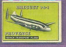 1952 TOPPS WINGS # 183 BREGUET 76 - 1 PROVENCE VG-