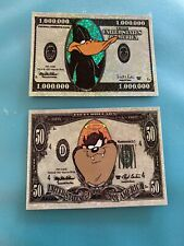 Vending Machine Stickers Looney Tunes Money $50 $1,000,000 Daffy Duck Taz Devil