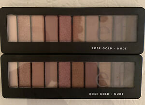 E.L.F. Rose Gold Nude Eyeshadow Palette 10 Colors (2 Pack) 🔥FREE SHIPPING 🔥