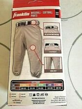 Franklin Deluxe Youth Boys' X-Large Baseball - Softball Pants Grey/Gray in box