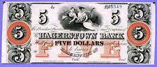 USA MARYLAND THE HAGERTOWN BANK $5 18XX EF+ RARE!