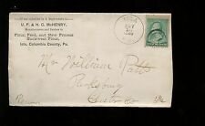 US Farm Related Advertising Cover (Flour, Feed, New Process Buckwheat) 1889 Iola
